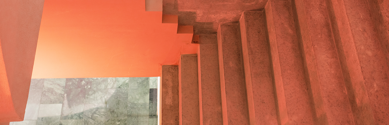 ocher colour stairs